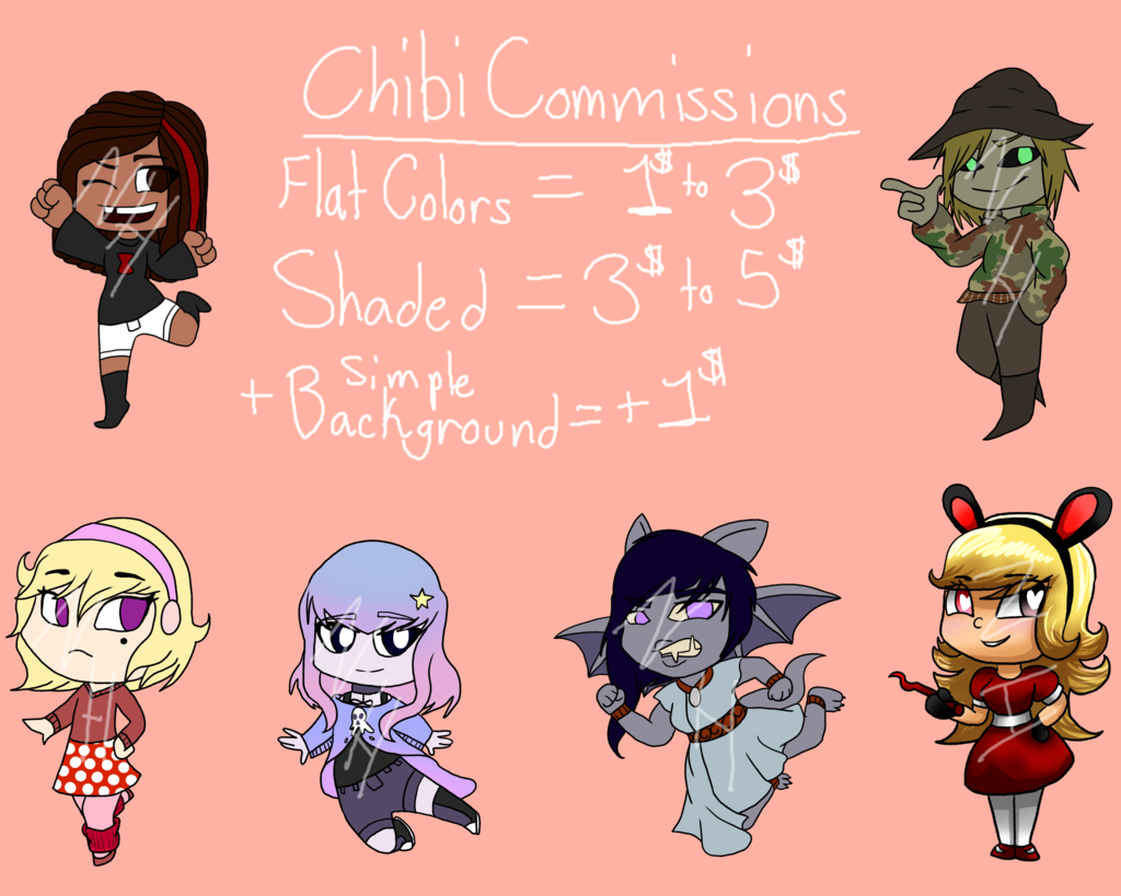 Most recent image: Chibi Commission Prices