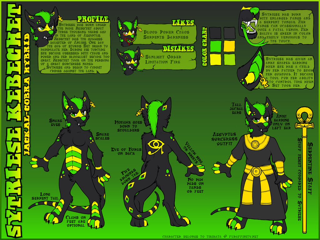 Sytriese Kebechet - Reference Sheet