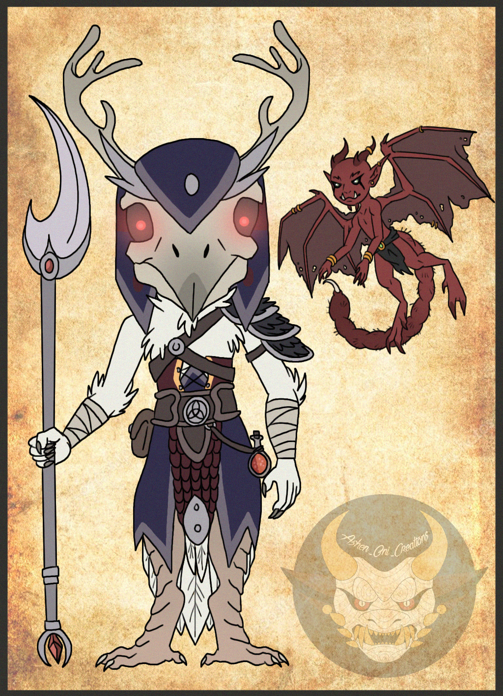 Personal -   Archerius the Decayer & Tyroc Chibi