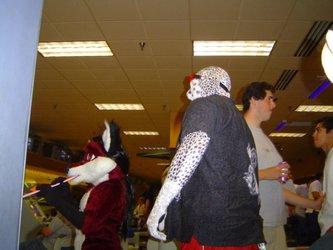 Dalmatian LAFF bowling (2005 fursuiting pic)
