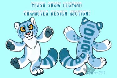 Plush Snow Leopard Character Auction
