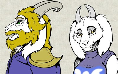 Undertale Goat Family