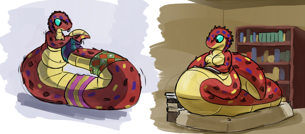 more cute snake lady