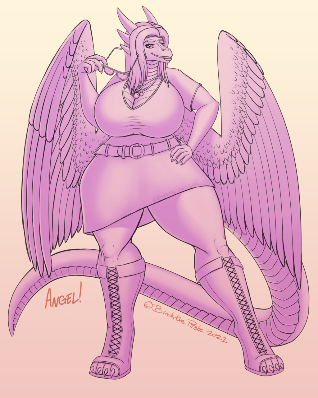 Angelic Vibes - Toned Sketch Example