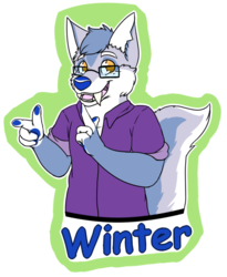 [C] Winter's Waist Up Badge