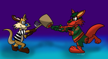 A Friendly Toon Roo Duel