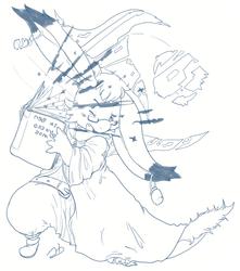 Twitter Sketch Commission: GrimoireM