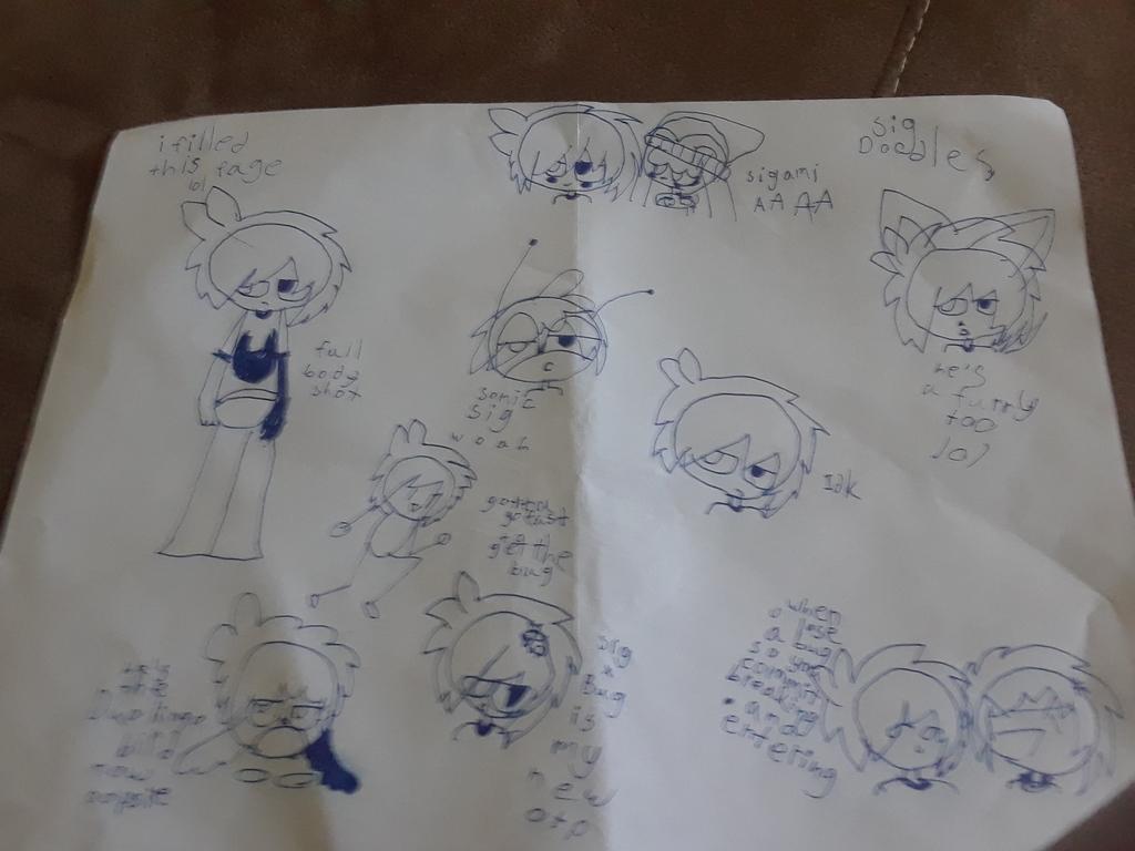 Most recent image: Sig doodles