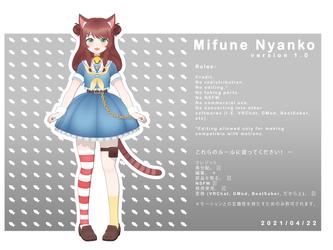 Mifune Nyanko v 1.0 (MMD Model DL)