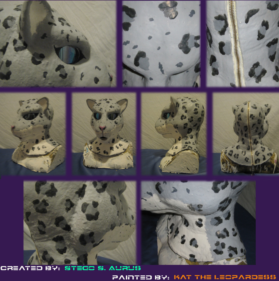 Painted Gas Mask: Snow Mew 2