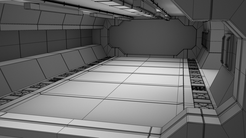 Featured image: [WIP] Hallway Wireframe