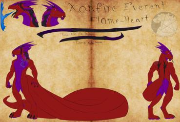 Ref-Sheet: Xanfire Everent Flame-Heart V.2