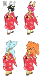 Diana +Flatcolored Sawsbuck commission+