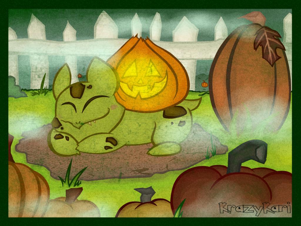 (Pokemon) Pumpkin Variant Bulbasaur