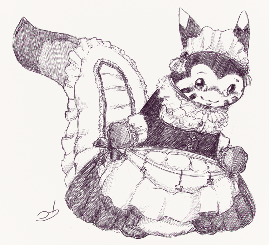 Most recent image: Furret Maid