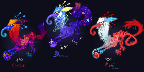 ADOPTABLES Crowned Clown Cats [OPEN]
