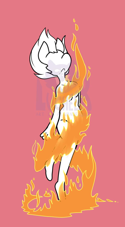 Magical Girl Fire Transformaton YCH