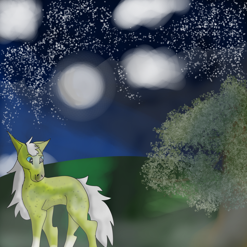 Most recent image: On a foggy night under the moonlight....
