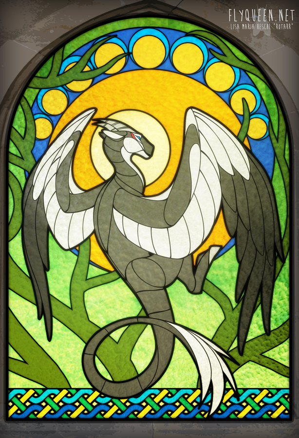"""Forest Guardian"" Stained Glass Window [Commission]"