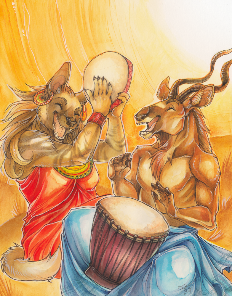 Music Through The Continents (Eurofurence art show IV)