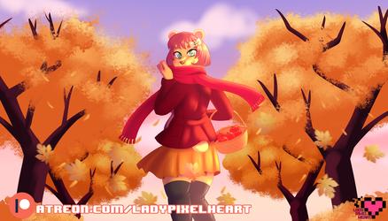 Honey's Autumn Stroll [YCH]
