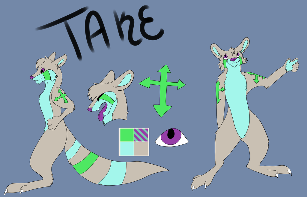 Most recent image: Take's New reference sheet :Clean: