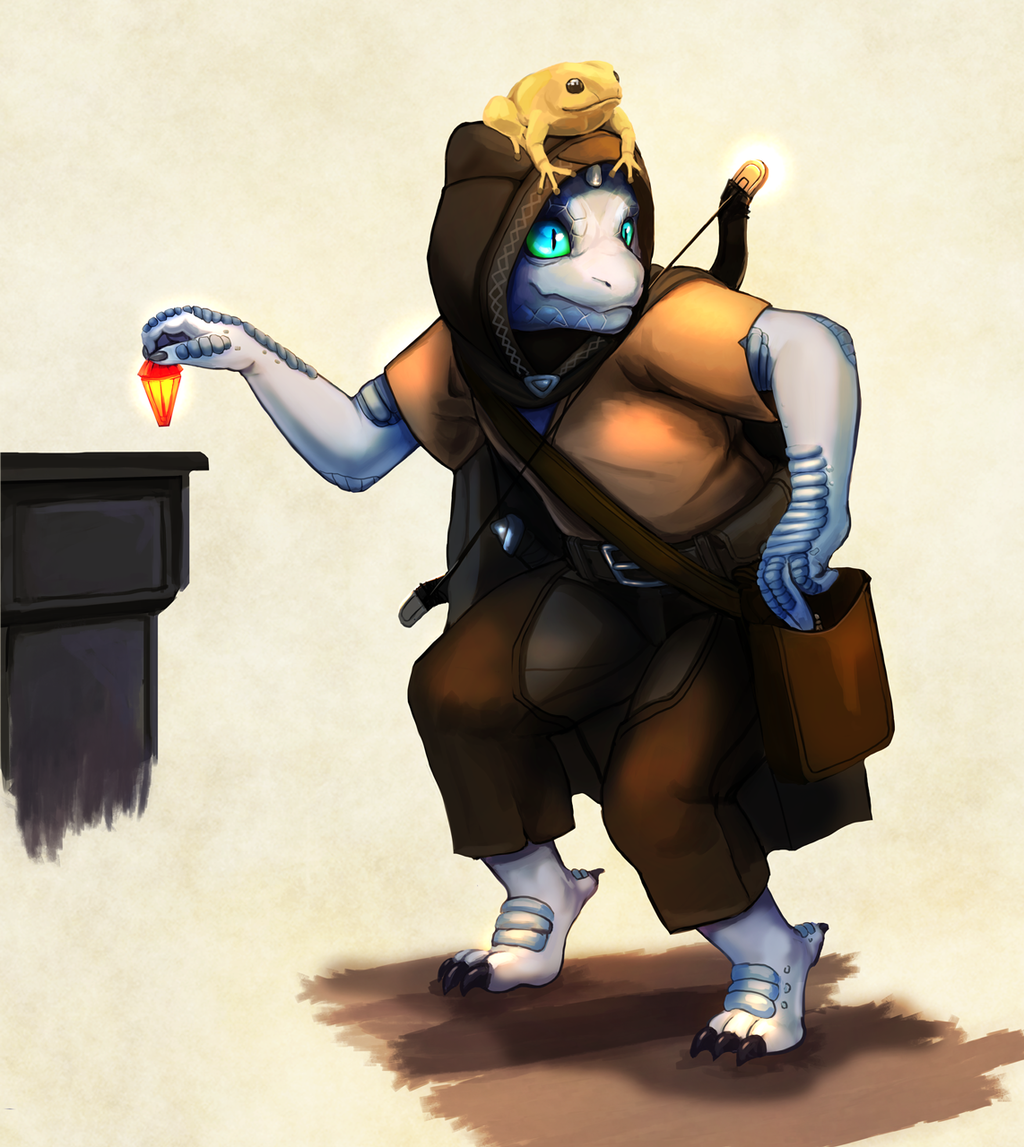 Most recent image: Dragonborn Child and Frog