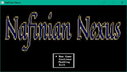 Nafinian Nexus Title Screen (WIP)