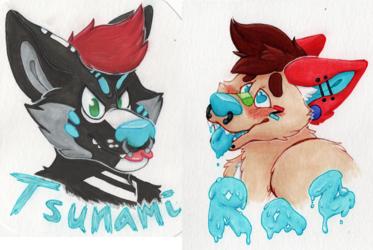 Raz & Tsunami Badges