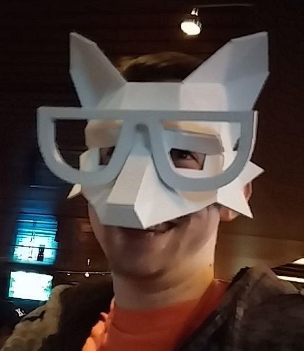 Low Poly Fox Mask
