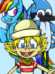 Rainbow Dash, FlapJack and Mordecai fanart