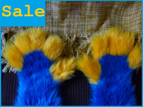 Blue With Yellow Handpaws