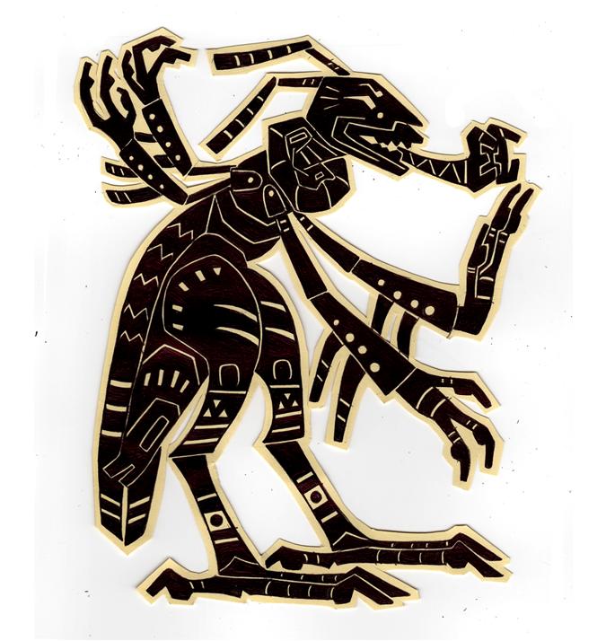 Rabid Locust Silhouette Commission