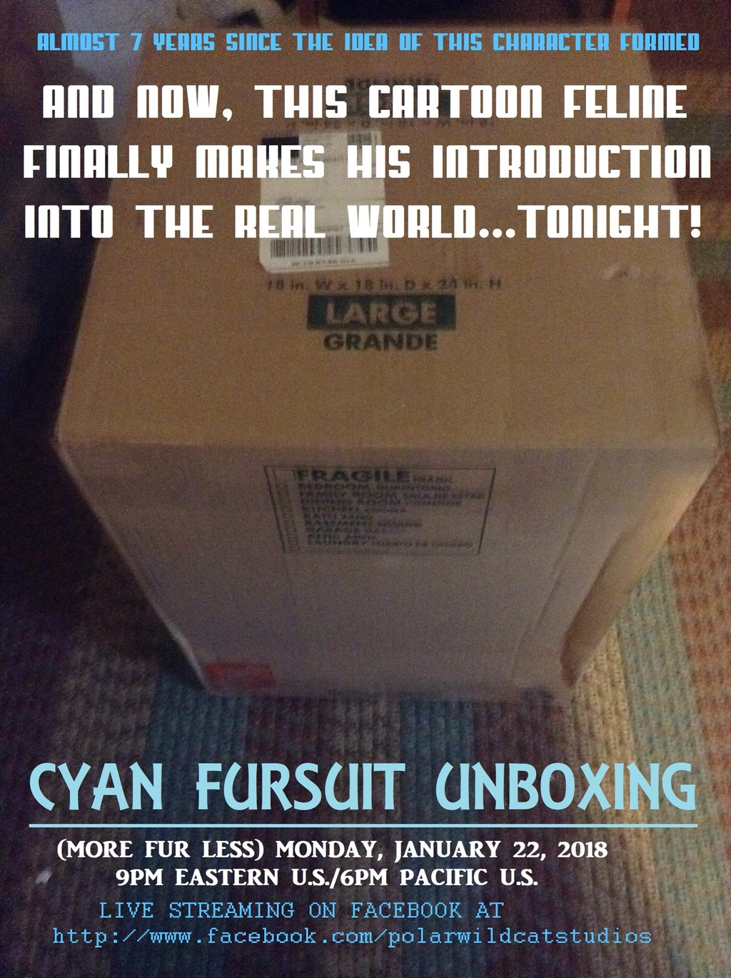 LIVE FURSUIT UNBOXING - Tonight at 9PM Eastern/6PM Pacific