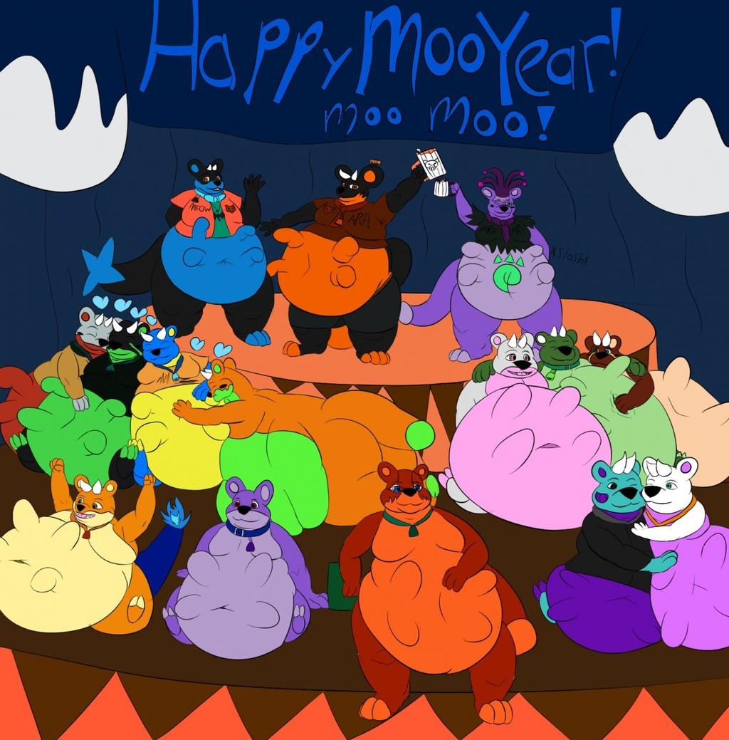 Happy Moo Year 2017! - by FluffyOttsel