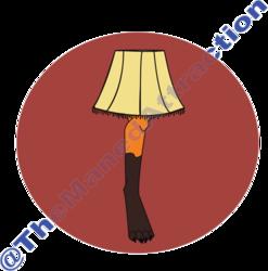 Red Fox Leg Lamp