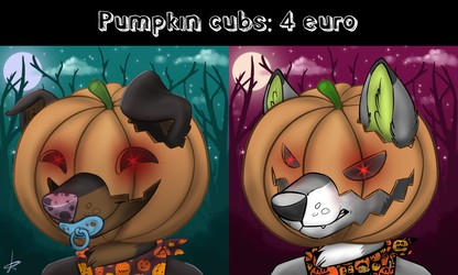 Pumpkin cubs recolors: 4 euro!