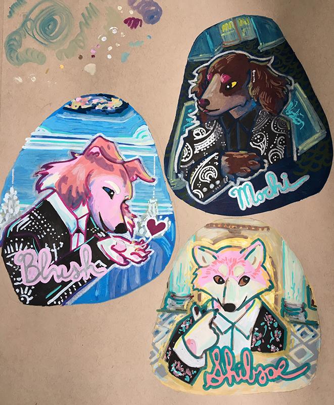 Pink Dog Squad BTS Badges