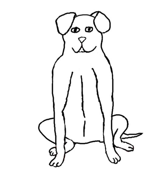 Dog Sitting Down — Weasyl