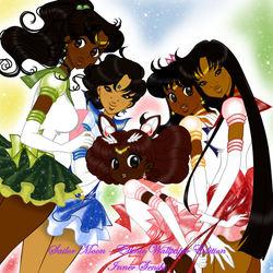 Sailor Moon - Ethnic Wallpaper Edition - Inner Senshi