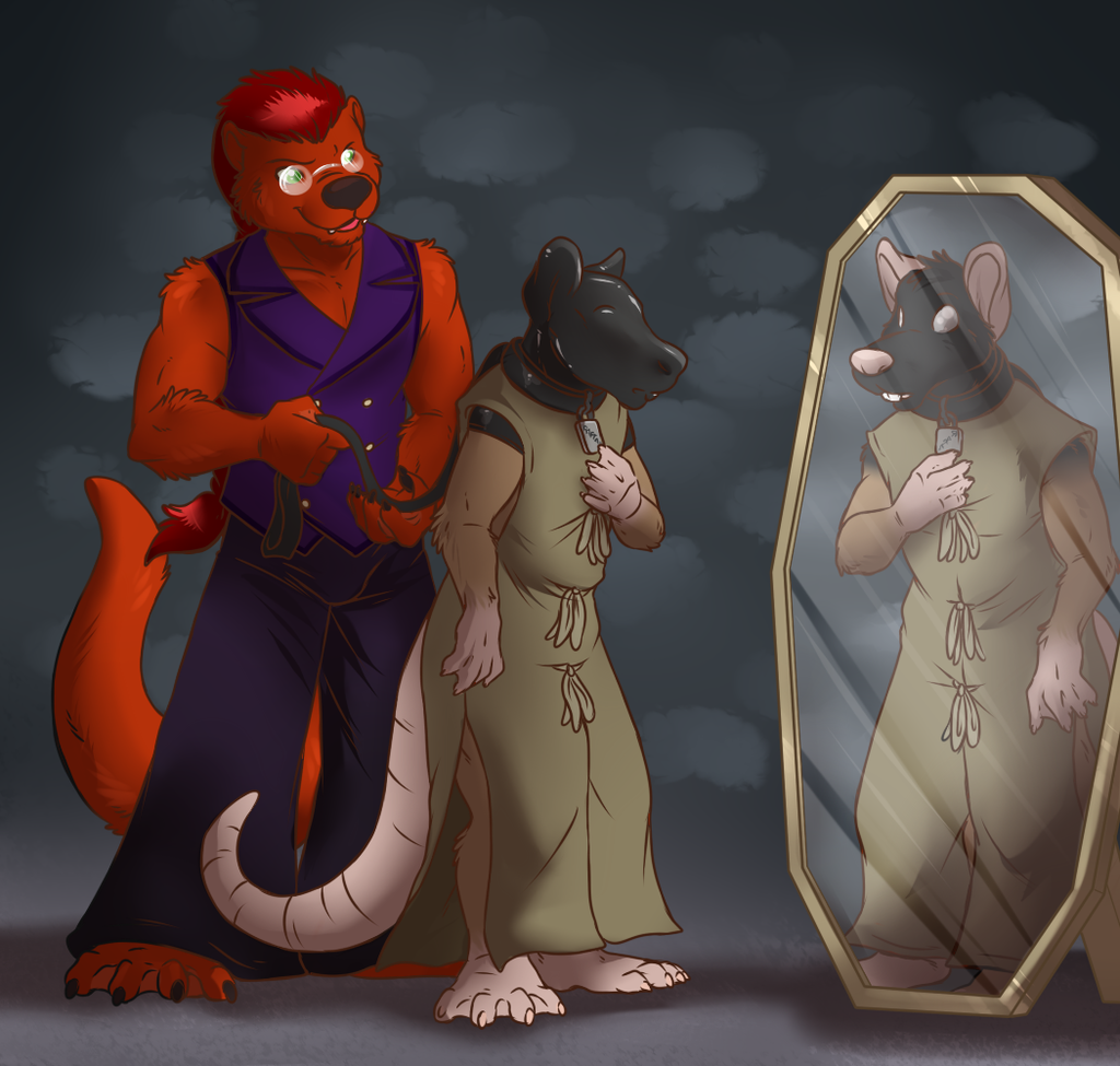 Hooded Rat Slave [Stream Commission - TF]