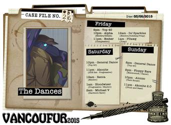 VF2015 - Dance and DJ Schedule!