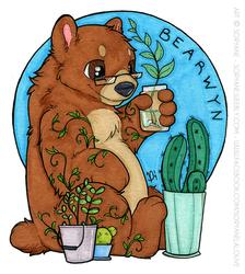 Bearwyn - Chibi Badge