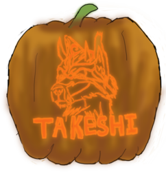 Jack-O-Lantern Badge - Takeshi