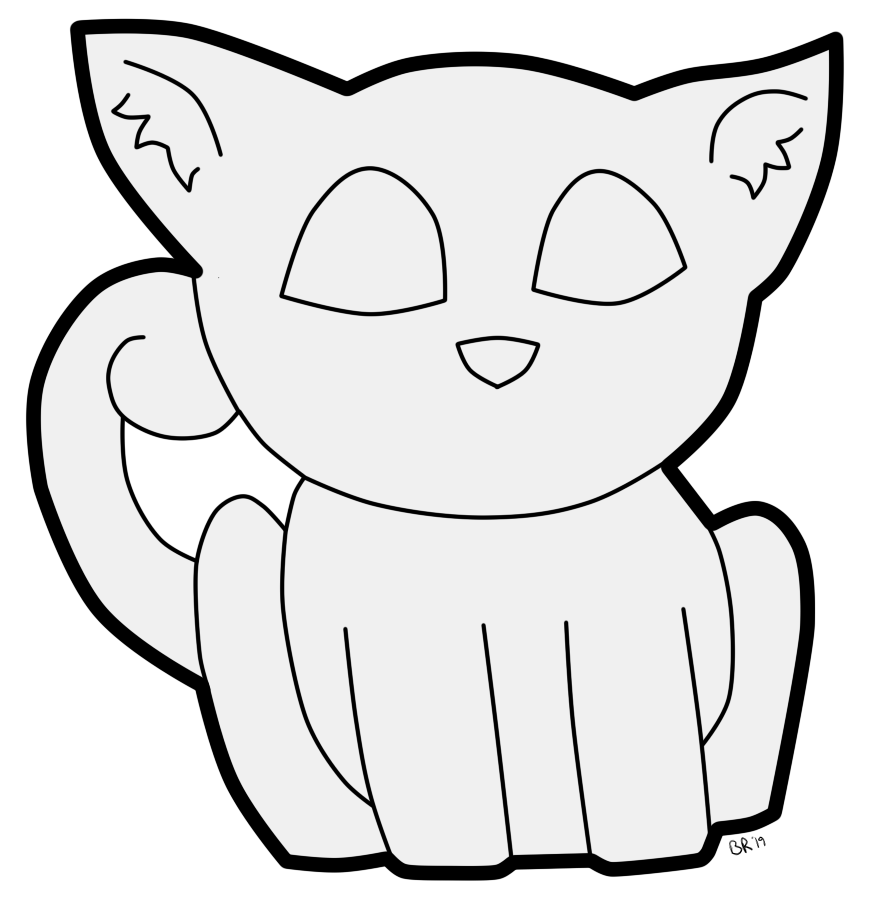 Most recent image: Free Lineart - Cat