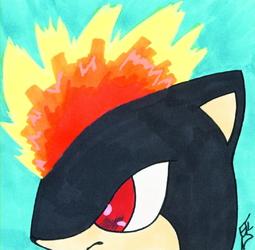 artist tile: flame mohawk