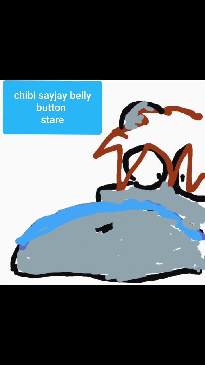 Chibi Sayjay belly button stare