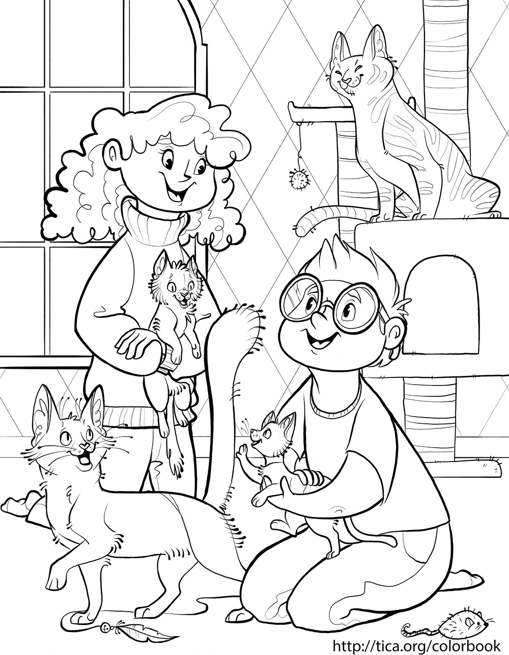 TICA Cat Coloring Book Page 1