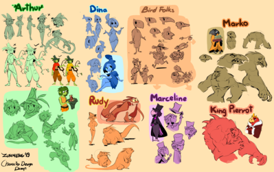 Elf Story Character Designs