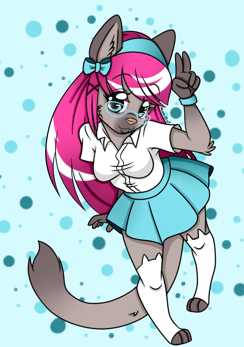 Fishie in her uniform